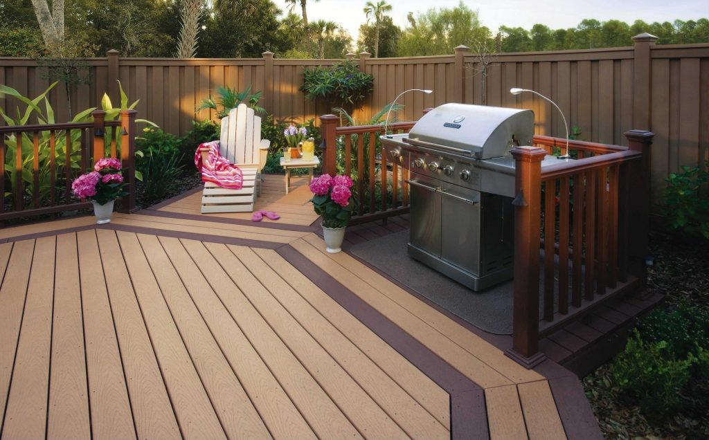 Composite Wood Terrace Deck