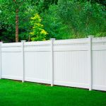 Composite White Picket Fence