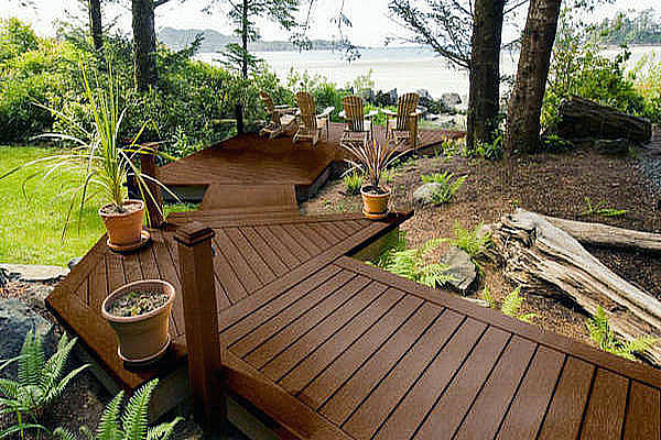 advantages of backyard flooring composite wood diy decking