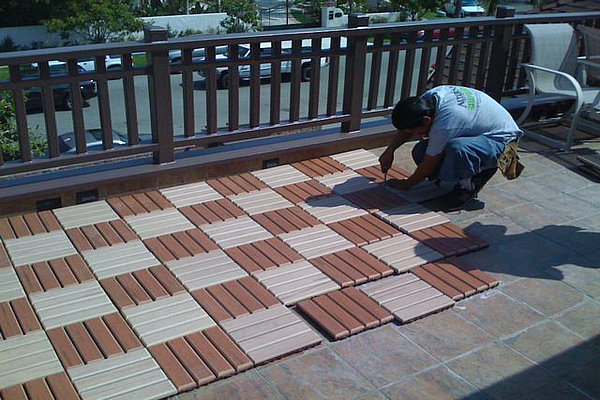 Cheap Patio Floor WPC Outdoor Floor Alternative Wood Flooring