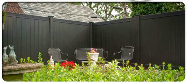 Recycled Composite Wood Black Privacy fence
