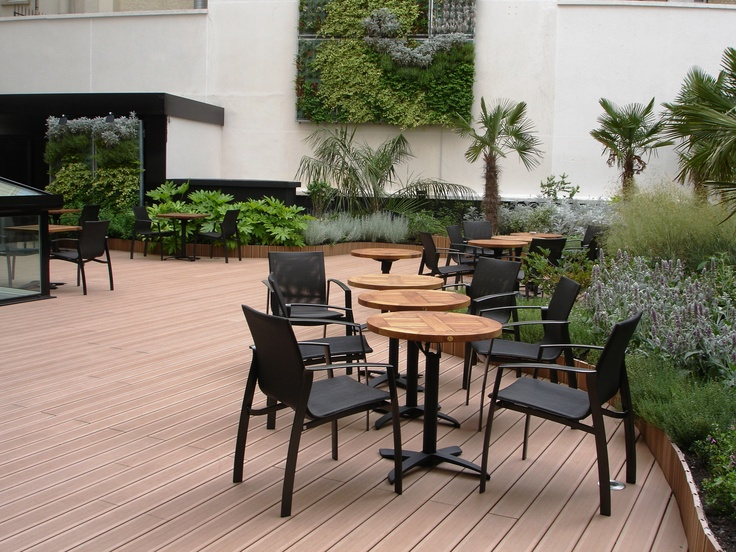 WPC Outdoor Tongue And Groove Decking Application