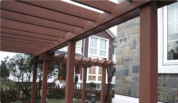 Seven Trust Environmentally-Friendly Composite Wood Pergola