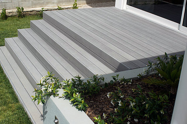 wood plastic composite terrace