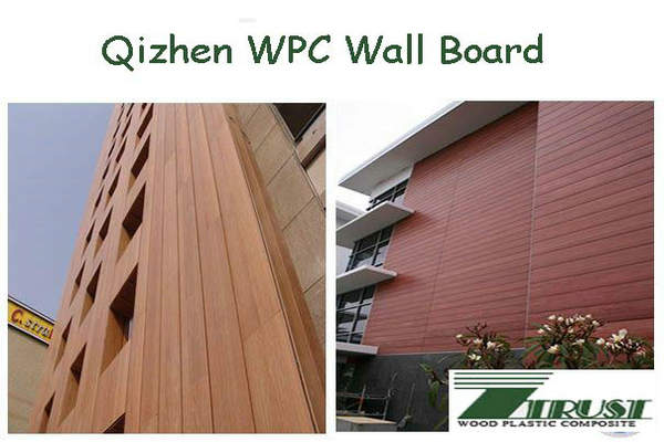 wood plastic composite wall board