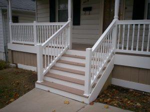 composite deck stair railing