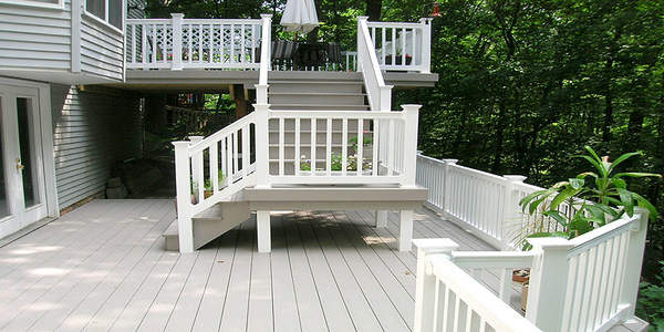 white composite decking