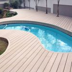 Above Ground Pool Deck Using WPC Decking