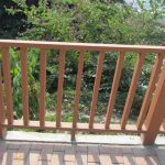 Wood Plastic Composite Outdoor Deck Railing