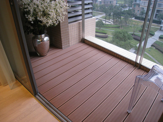 Composite plastic decking