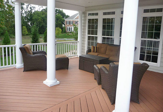 Buy Composite Decking with low plastic decking prices costs