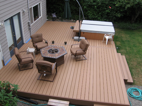 Composite Wood Outdoor Deck Material