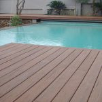 How to build a deck around a round above ground pool