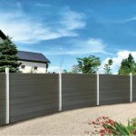 WPC Garden Fencing Horizontal Panel