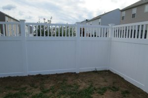 PVC Privacy Fence With Closed Picket