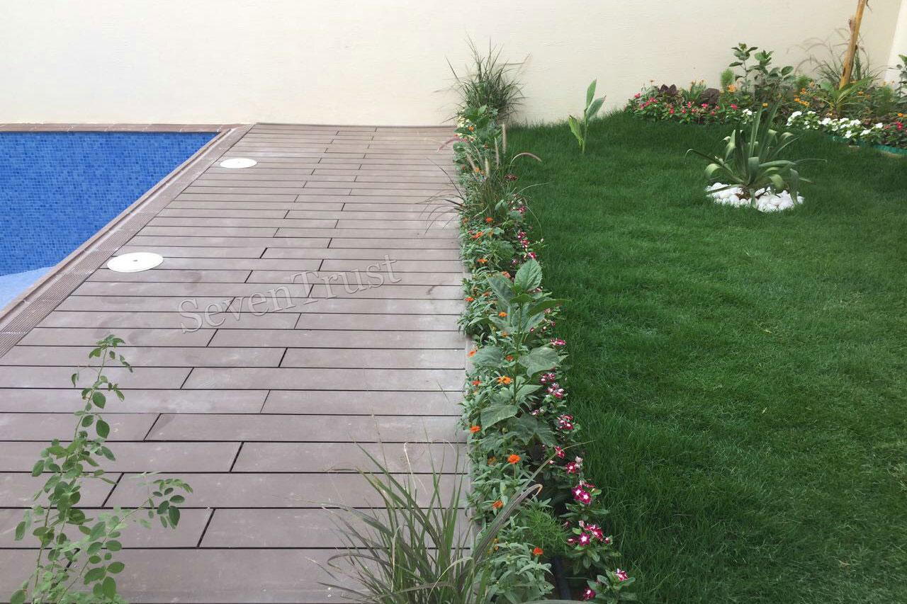 Wood Plastic Composite Outdoor Decking In Saudi Arabia