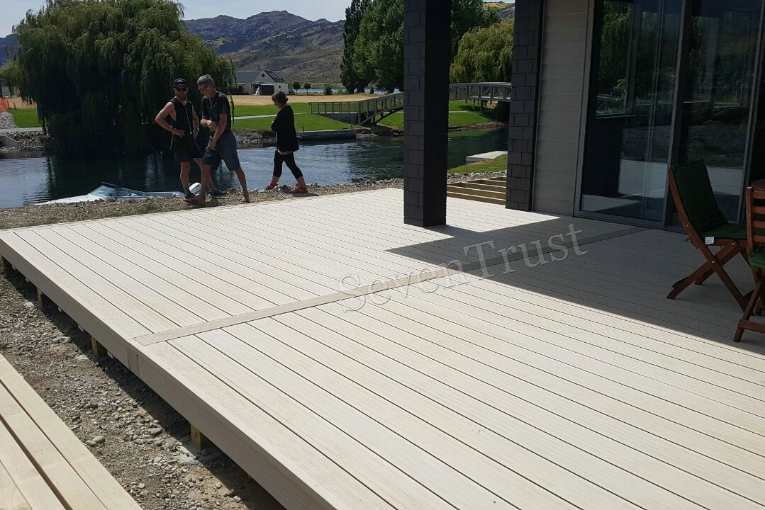 White Decking Project In New Zealand